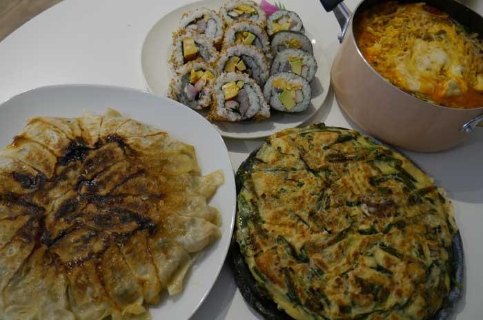 2月のメニューは「鯵と韓国料理の融合」