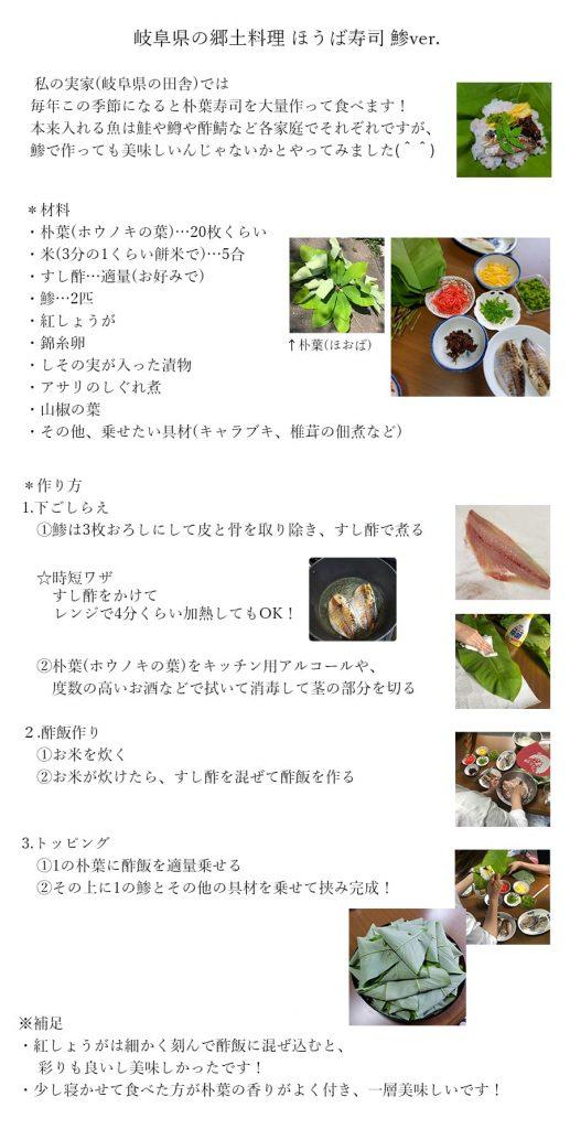 ほうば寿司レシピ